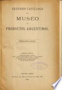 Segundo catálogo del Museo de productos argentinos