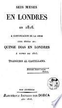 Seis meses en Londres en 1816