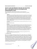 SELECCIÓN DE PROYECTOS DE TECNOLOGÍA DE LA INFORMACIÓN EN ENTORNOS DE INDETERMINACIÓN