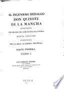 """""""El"""" ingenioso hidalgo Don Quixote de la Mancha; nueva Ed"""