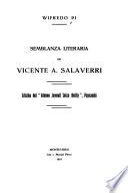 Semblanza literaria de Vicente A. Salaverri