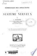 Sémiologie des affections du système nerveux