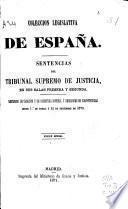 Sentencias del tribunal supremo de justicia en sus salas primera y segunda