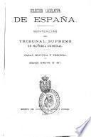 Sentencias del Tribunal supremo de justicia