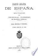 Sentencias del Tribunal Supremo en materia criminal