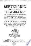 Septenario doloroso de Maria SSma