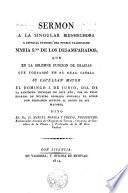 Sermón a la singular bienhechora y especial Patrona del pueblo Valenciano María Stma. de los Desamparados