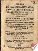 Sermón de la Ida. Concepción de María predicado por D. Juan Benitez Montero