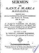 Sermon de Santa Maria Magdalena