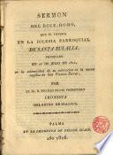 Sermón del Ecce-Homo, que se venera en la Iglesia Parroquial de Sta. Eulalia predicado en 26 de Julio de 1816 por el Dr. D Nicolas Prats, Pbro...