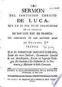 Sermon del Santisimo Christo de Luca