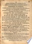 Sermón fúnebre en las exéquias de D. Gabriel Antonio de Borbón, Infante de España y de Da Maria Ana Victoria, Infanta de Portugal y de Castilla, que predicó Fr. Diego Joseph de Cádiz