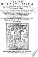 Sermon [on Matt. i. 16] de la purissima Concepcion de la Virgen Maria, etc