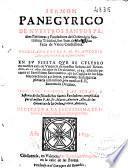 Sermon panegirico de nuestros santos patriarcas y fundadores del Orden de la Santissima Trinidad, San Iuan de Mata y San Felix de Valois confessores