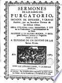 Sermones De Las Almas Del Purgatorio