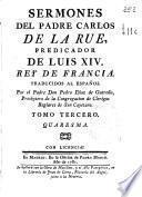 Sermones del padre Carlos de La Rue ...