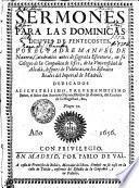 SERMONES PARA LAS DOMINICAS DESPVES DE PENTECOSTES