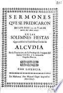 Sermones que se predicaron en los dias 25 (per Matias Ferrer) 26 (per Josep Agrament) y 28 (per Raymundo Llinas) de junio ... 1697