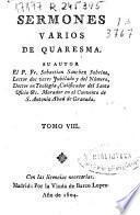Sermones varios de quaresma