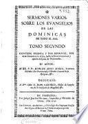 Sermones varios sobre los Euangelios de las dominicas de todo el año
