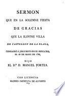 Sermons delivered by Manuel Fortea