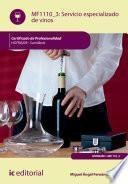 Servicio especializado de vinos. HOTR0209
