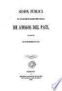 Sesión pública de la Sociedad Económica Barcelonesa de Amigos del País