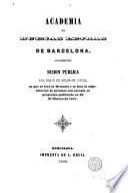 Sesión pública del día 2 de julio de 1842 en que se leyó la memoria y se hizo la adjudicación de premios con arreglo al programa publicado en 20 de febrero de 1841