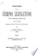 Sesiones de los cuerpos lejislativos de la República de Chile, 1811-1845