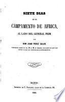 Siete días en el campamento de África al lado del general Prim