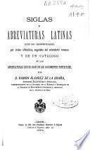 Siglas y abreviaturas latinas con su significado, por orden alfabético