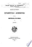 Sinopsis estadística i jeográfica de Chile