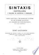 Sintaxis castellana y nociones de lingüística y etimología