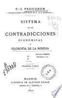 Sistema de las contradicciones económicas o Filosofía de la miseria