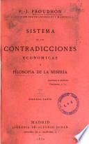 Sistema de las contradicciones económicas, o filosofía de la miseria