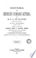 Sistema del derecho romano actual, 4