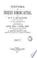 Sistema del derecho romano actual, 6