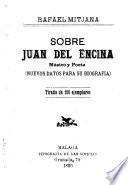 Sobre Juan del Encina, músico y poeta