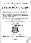 Sobrino aumentado o Nuevo diccionario de las lenguas Española, Francesa y Latina, 1.2
