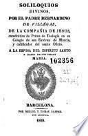 Soliloquios divinos a la esposa del Espíritu Santo y Reina de los Cielos María