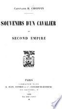 Souvenirs d'un cavalier du second empire