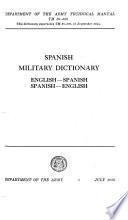 Spanish Military Dictionary