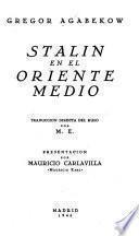 Stalin en el oriente medio