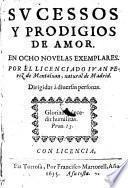 Sucessos y prodigios de amor en ocho novelas exemplares