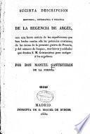 Sucinta descripcion historica, geografica y politica de la regencia de Argel