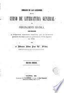 Sumario de las lecciones de un curso de literatura general y principalmente española