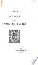 Suplemento al catálogo de la Biblioteca de la Universidad Mayor de San Marcos