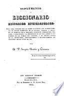 Suplemento al diccionario histórico enciclopédico