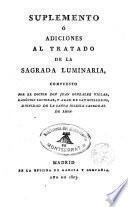 Suplemento e adiciones al tratado de la Sagrada luminaria