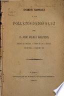 Suplemento indispensable a los folletos dados a luz por d. Jose Maria Salcedo